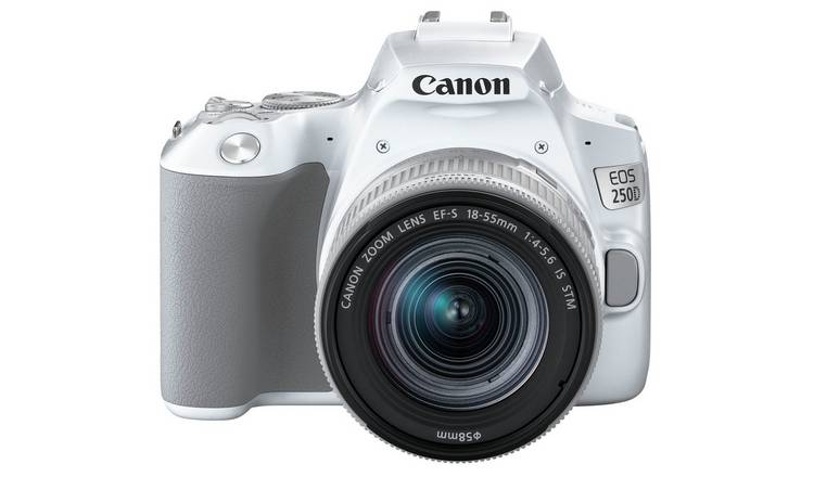Canon EOS 250D DSLR Camera Body with 18-55mm IS Lens - White