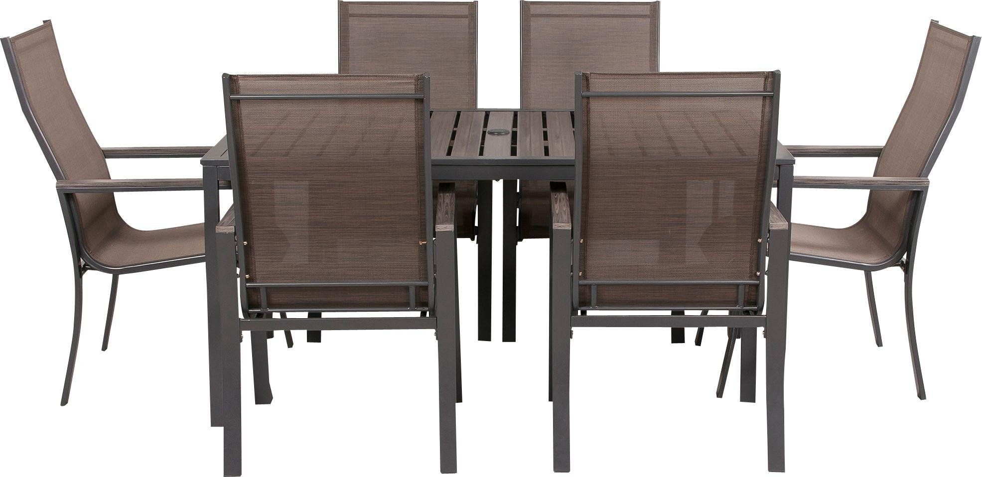 Buy Amalfi 6 Seater Patio Furniture Dining Set at Argos Your line S