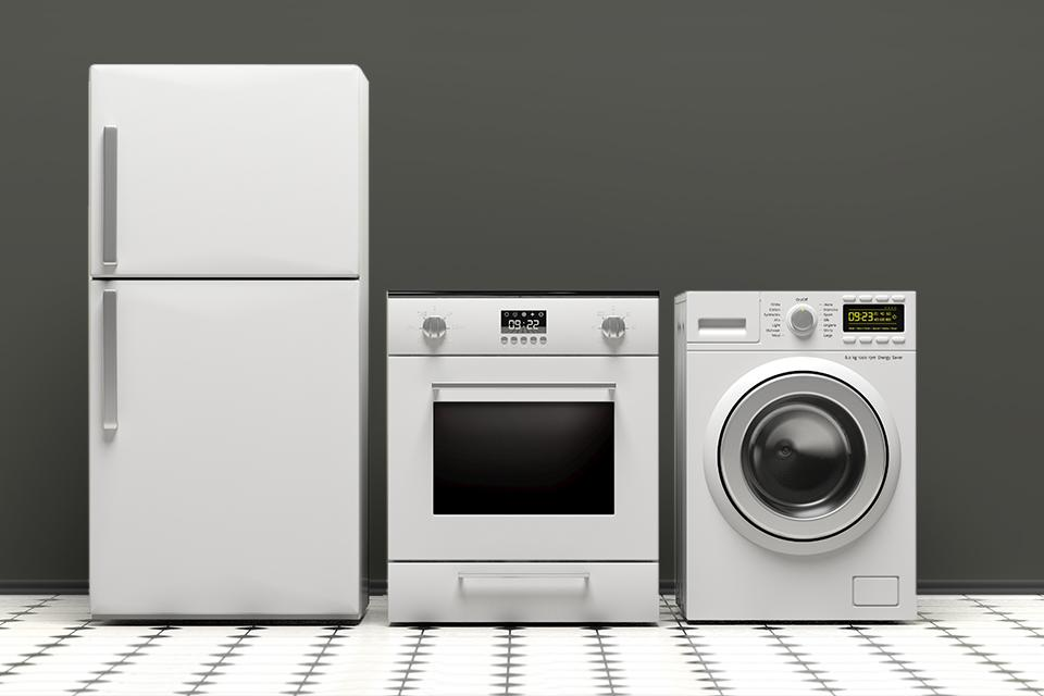 Choosing energy efficient appliances.