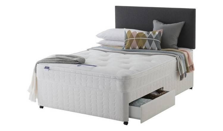 Silentnight Travis Double Miracoil Ortho 2 Drw Divan - White