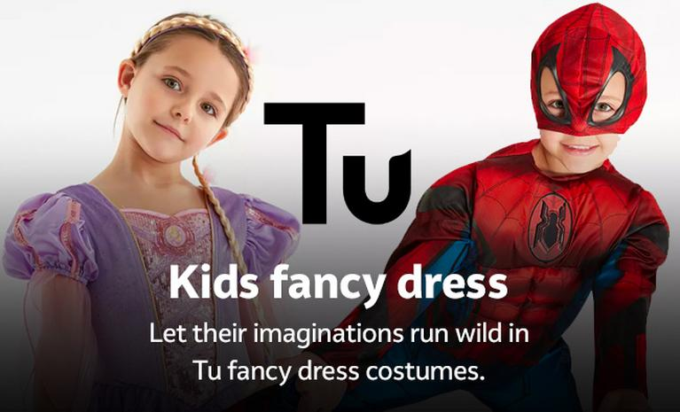 Kids fancy dress. Let their imaginations run wild in Tu fancy dress costumes.