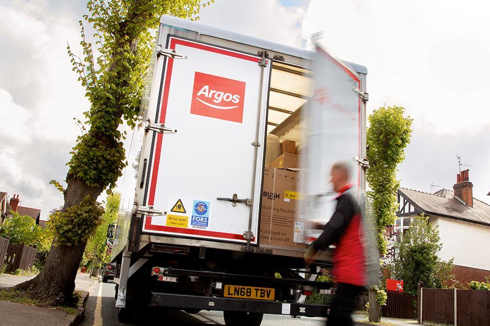An Argos lorry.
