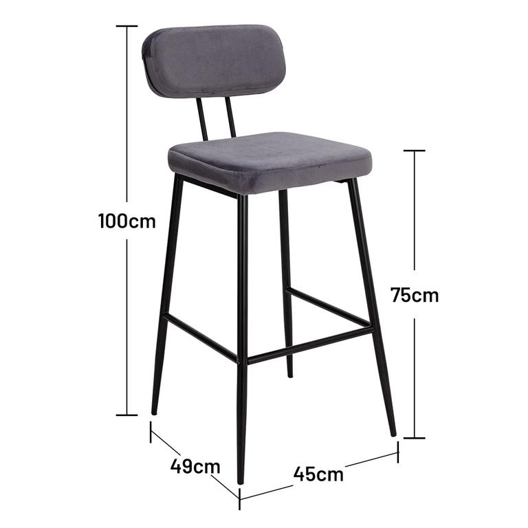 Bar-height bar stools.