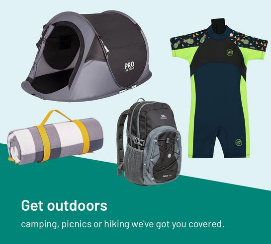 Get outdoors. Camping, picnics or hiking, we've got you covered.