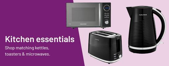 Kitchen essentials. Shop matching kettles, toasters & microwaves.