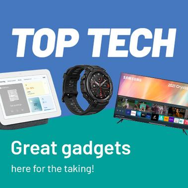 Top tech. Great gadgets here for the taking!