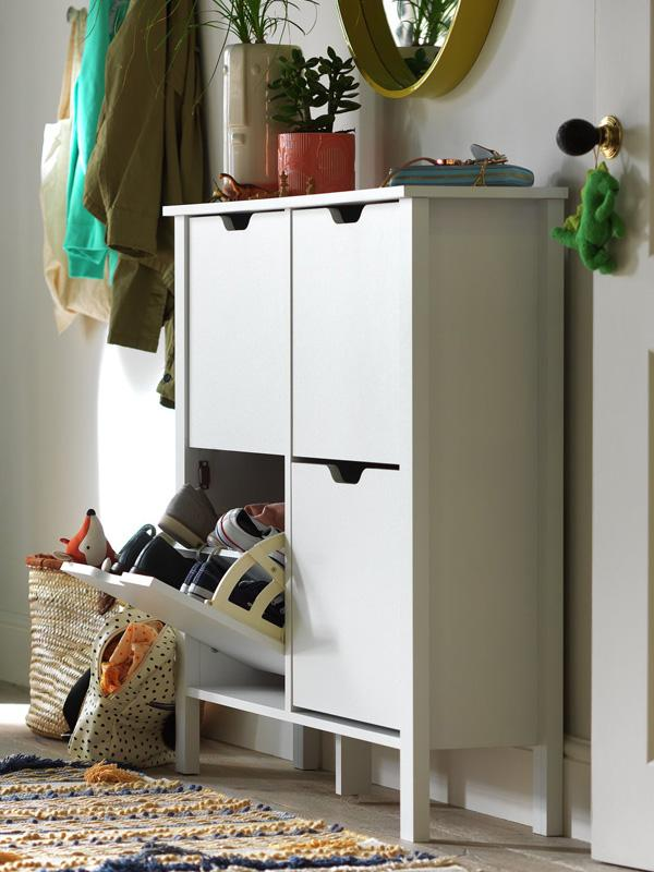 Habitat Compton 4 Shelf Shoe Storage Cabinet - White.