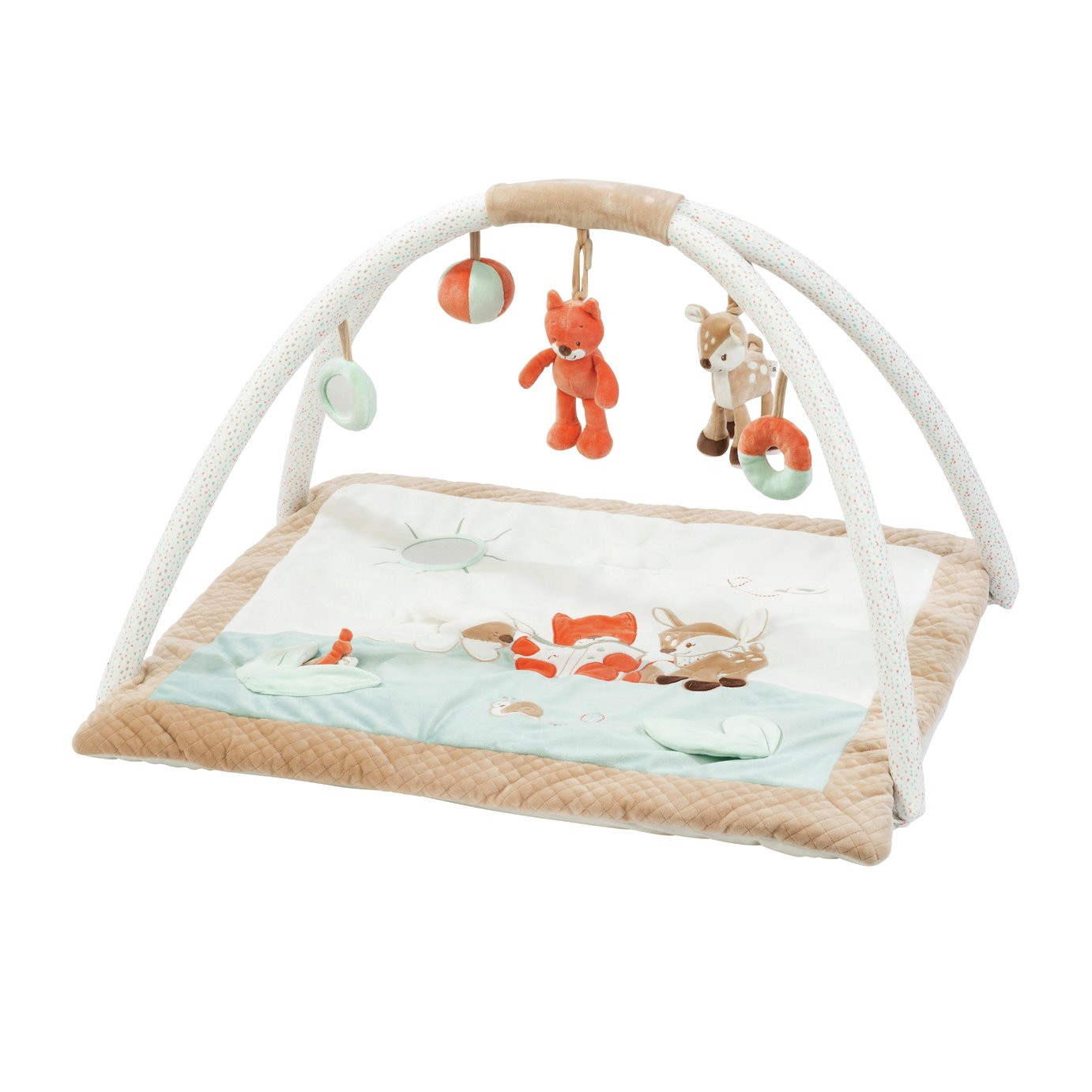 Nattou Fanny The Deer and Oscar the Fox Playmat