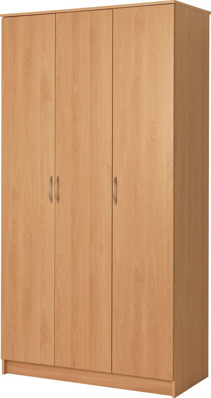 sale on argos home cheval 3 door wardrobe beech effect. Black Bedroom Furniture Sets. Home Design Ideas