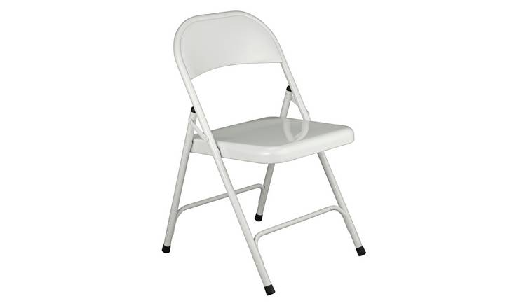 Habitat Macadam Metal Folding Chair - White