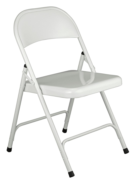 Habitat Macadam Metal Folding Chair   White152/6208