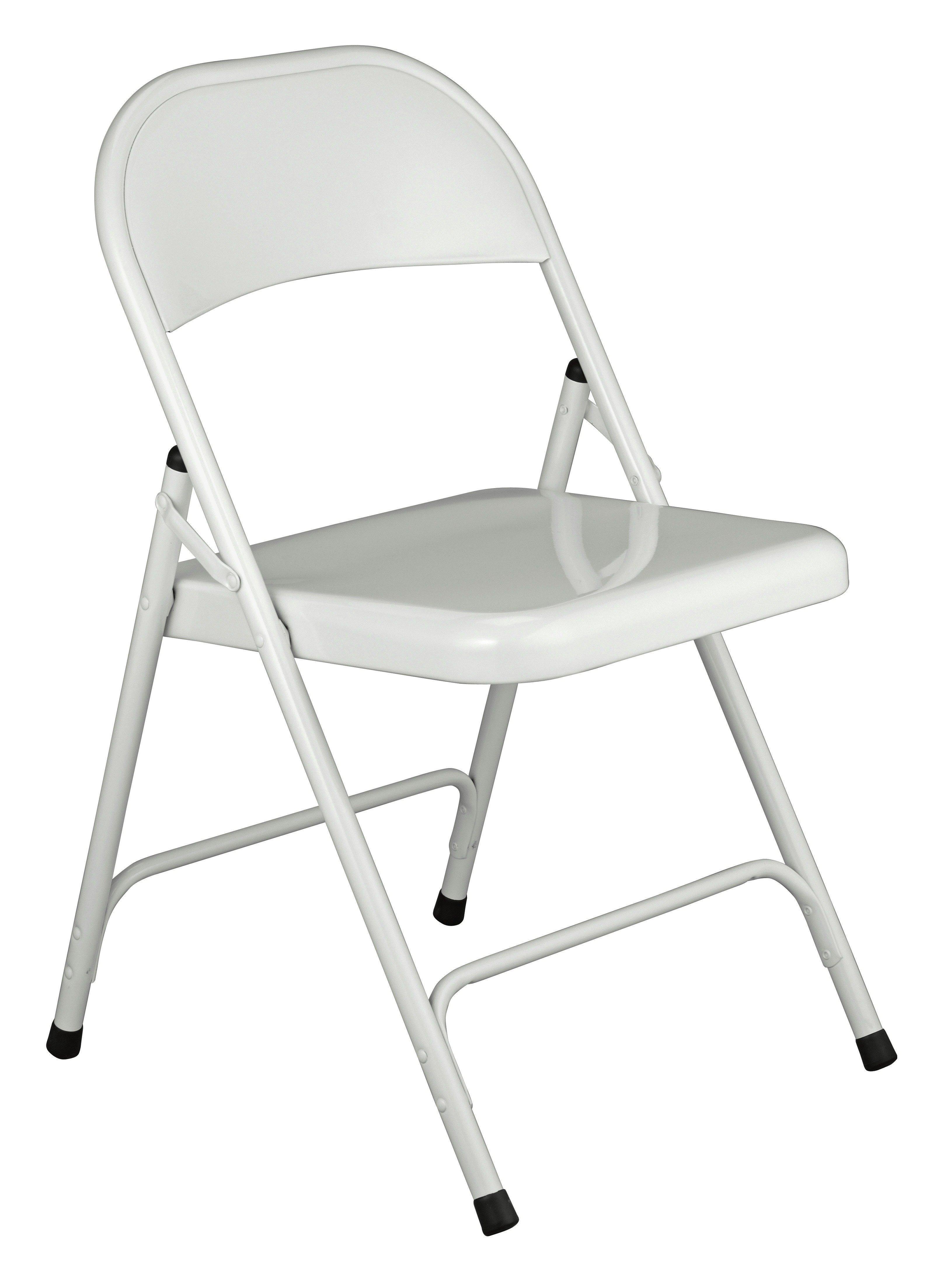 buy habitat macadam metal folding chair - white at argos.co.uk