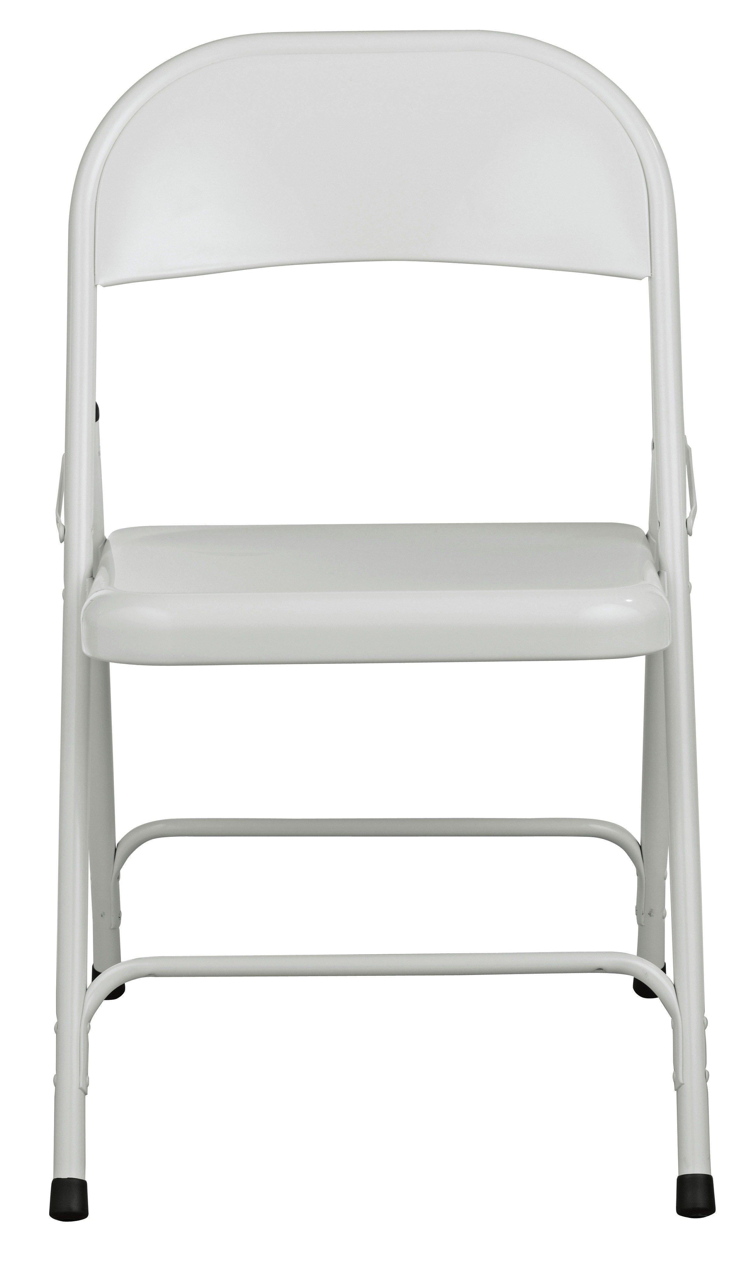 White Metal Folding Chairs buy habitat macadam metal folding chair - white at argos.co.uk