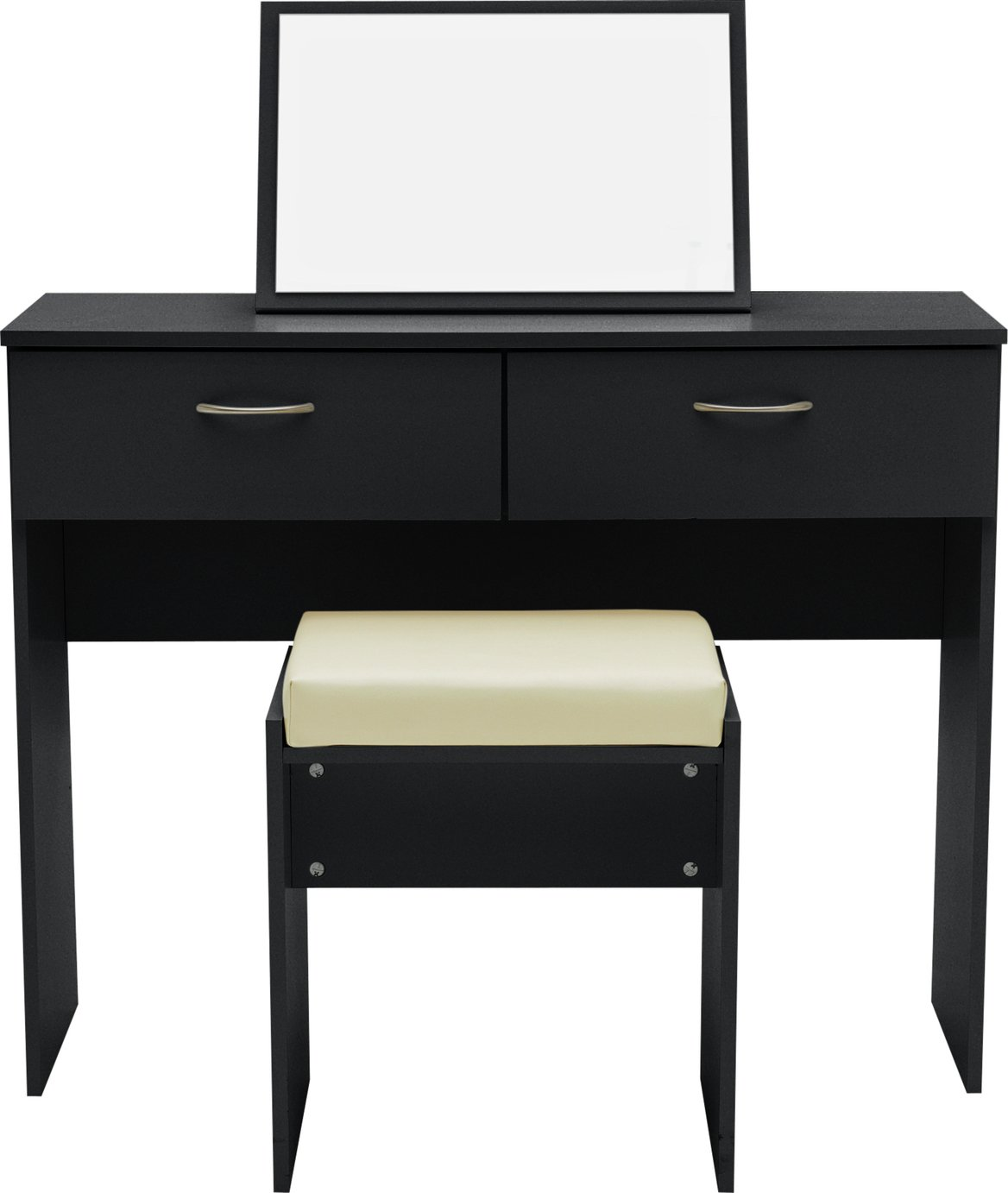Image of Collection Cheval Dressing Table, Stool & Mirror - Black