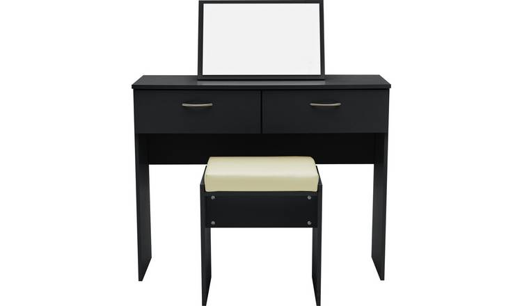 factory price af026 d3dc7 Buy Argos Home Cheval Dressing Table Stool & Mirror - Black | Dressing  tables | Argos