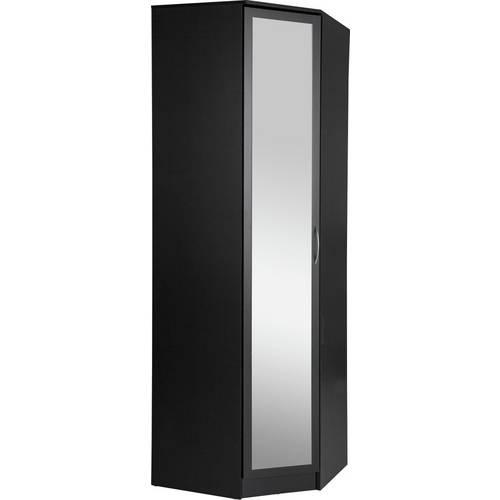 Buy Argos Home Cheval 1 Door Mirrored Corner Wardrobe - Black | Wardrobes |  Argos