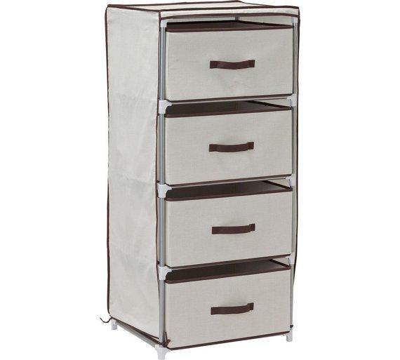 Argos Home 4 Drawer Canvas Bathroom Storage Unit Grey