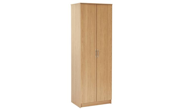 Argos Home Cheval 2 Door Wardrobe - Oak Effect
