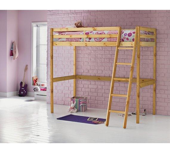 Argos Home Kaycie Wood High Sleeper Single Bed Frame