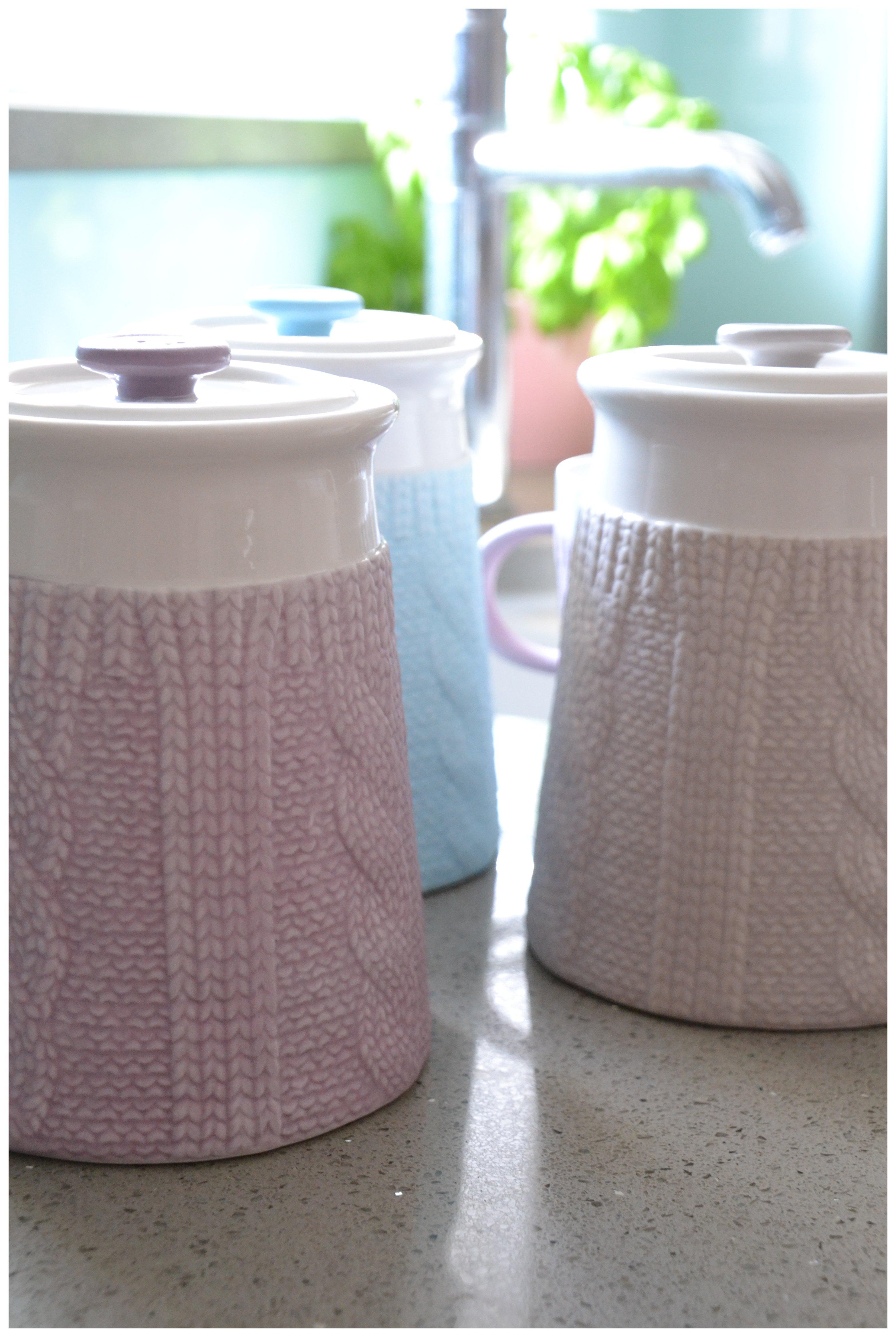 Image of Chunky Knit Design - Storage Jar - Heather