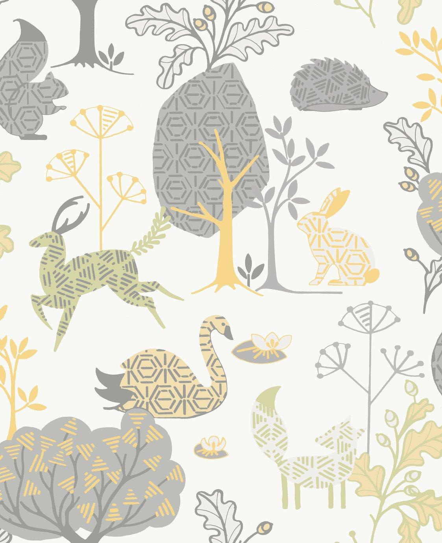 Fresco Forest Critters Wallpaper