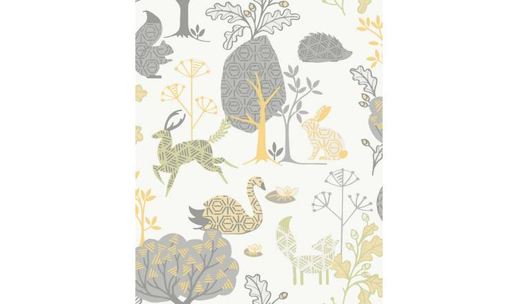 Fresco Forest Critters Wallpaper