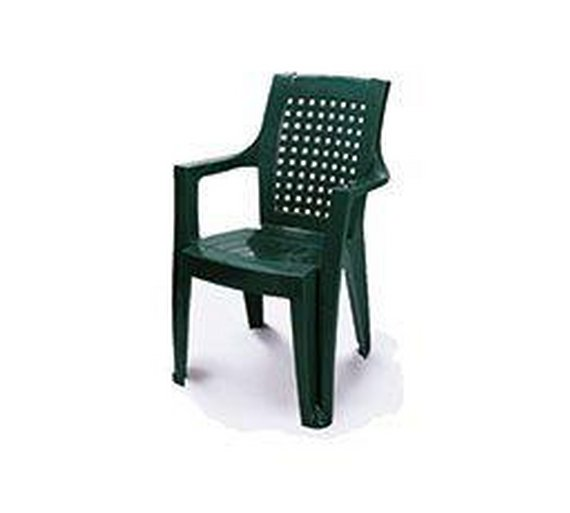 buy high back stacking garden chair green at. Black Bedroom Furniture Sets. Home Design Ideas