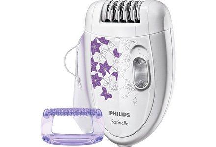 Philips Satinelle Epilator with Massage Cap.