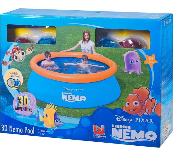 Buy Disney Finding Nemo 3d Paddling Pool 7ft Pools And