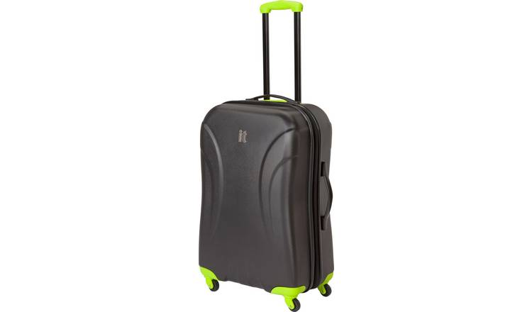 ec945c73 it Luggage Expandable 4 Wheel Hard Cabin Suitcase - Black157/9925