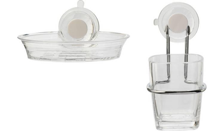 Buy Croydex Press N Lock 2 Piece Soap Dish Amp Tumbler