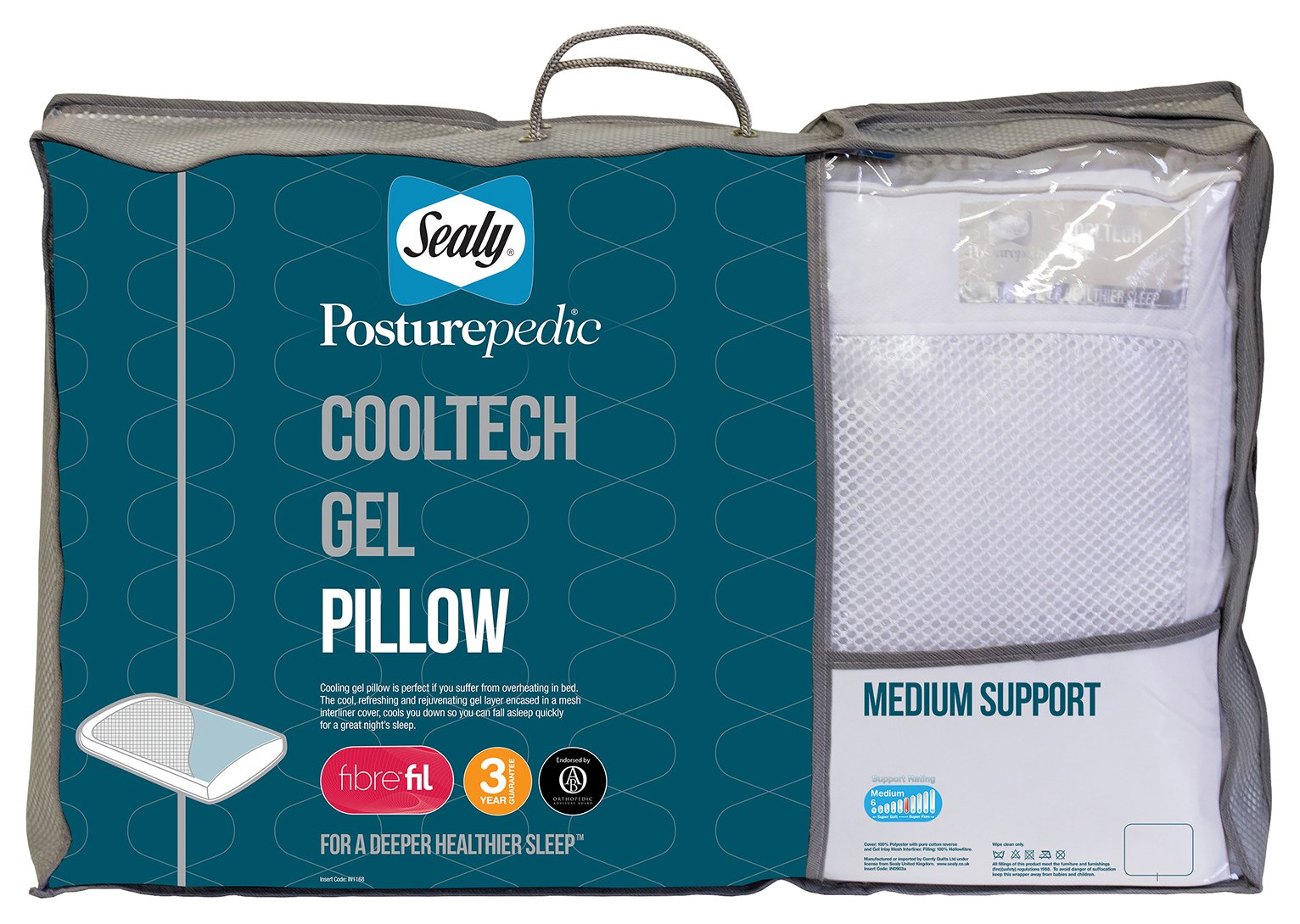 sealy posturepedic cooltech gel pillow.