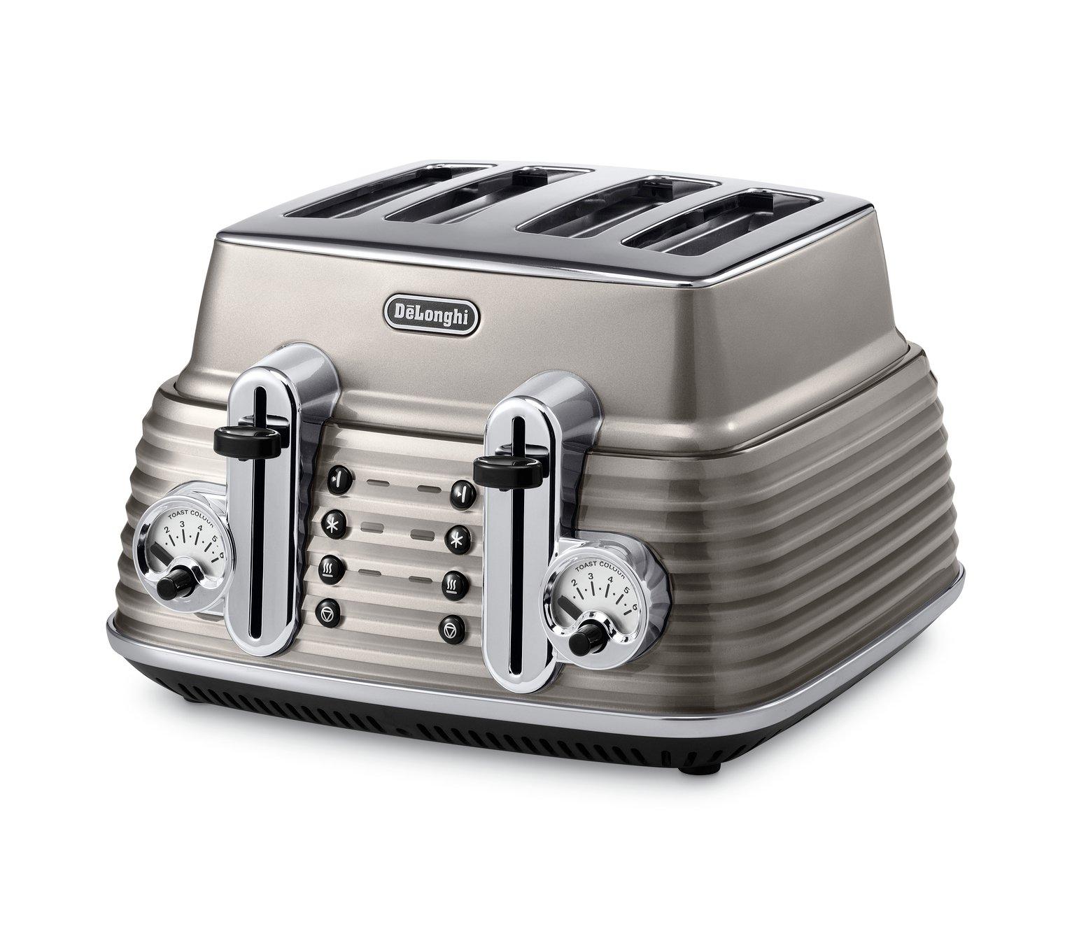 DeLonghi - Toaster - Scultura - 4 Slice - Champagne