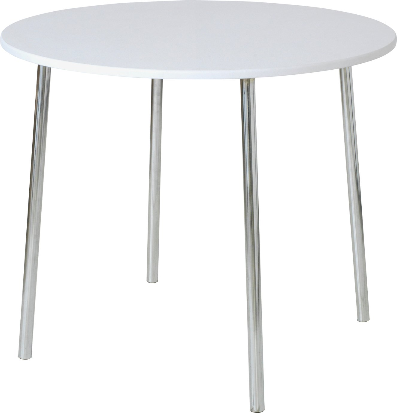 Argos Home Round Wood Effect 2 Seater Dining Table - White