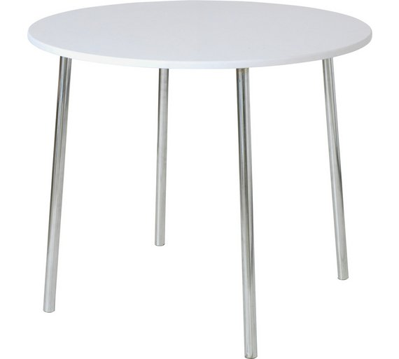 Buy Home Round Kitchen Wood Effect Seater Dining Table White