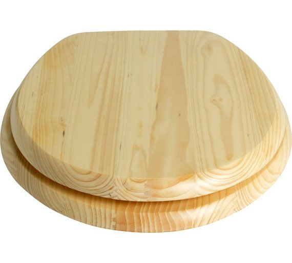 Buy Collection Solid Wood Slow Close Toilet Seat Natural