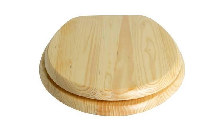 Buy Argos Home Solid Wood Slow Close Toilet Seat Natural Pine Toilet Seats Argos