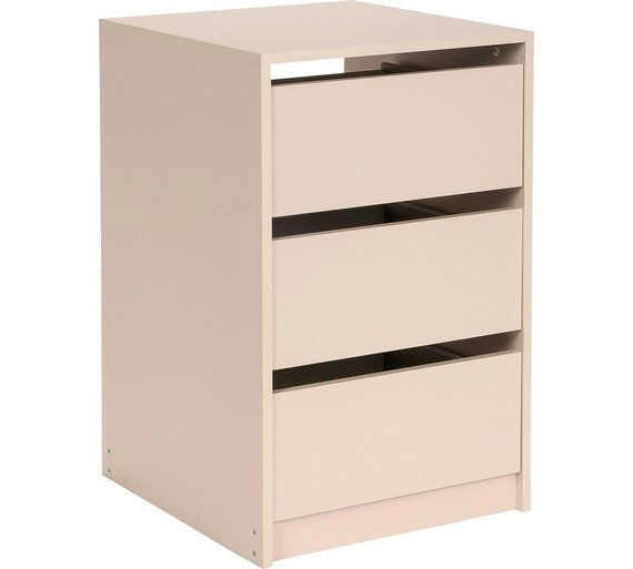 Buy hygena atlas internal 3 drawer chest cream at argos for Bedroom units argos