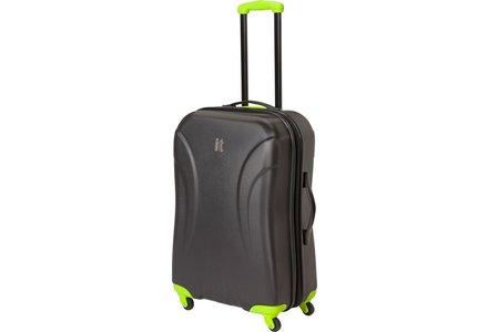 Image of IT Luggage Large Expandable 4 Wheel Hard Suitcase - Black.