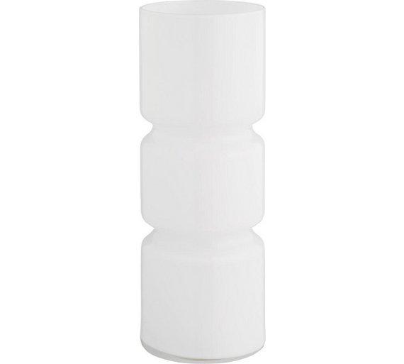 Habitat fitz glass table lamp white