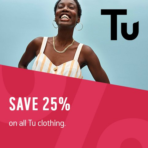 Save 25% on all Tu clothing