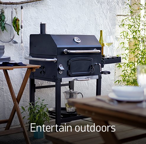 Entertain outdoors.