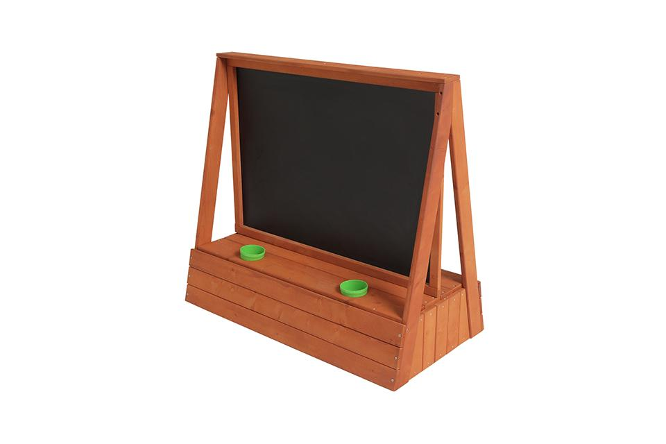 Chad Valley Wooden Easel with Blackboard.