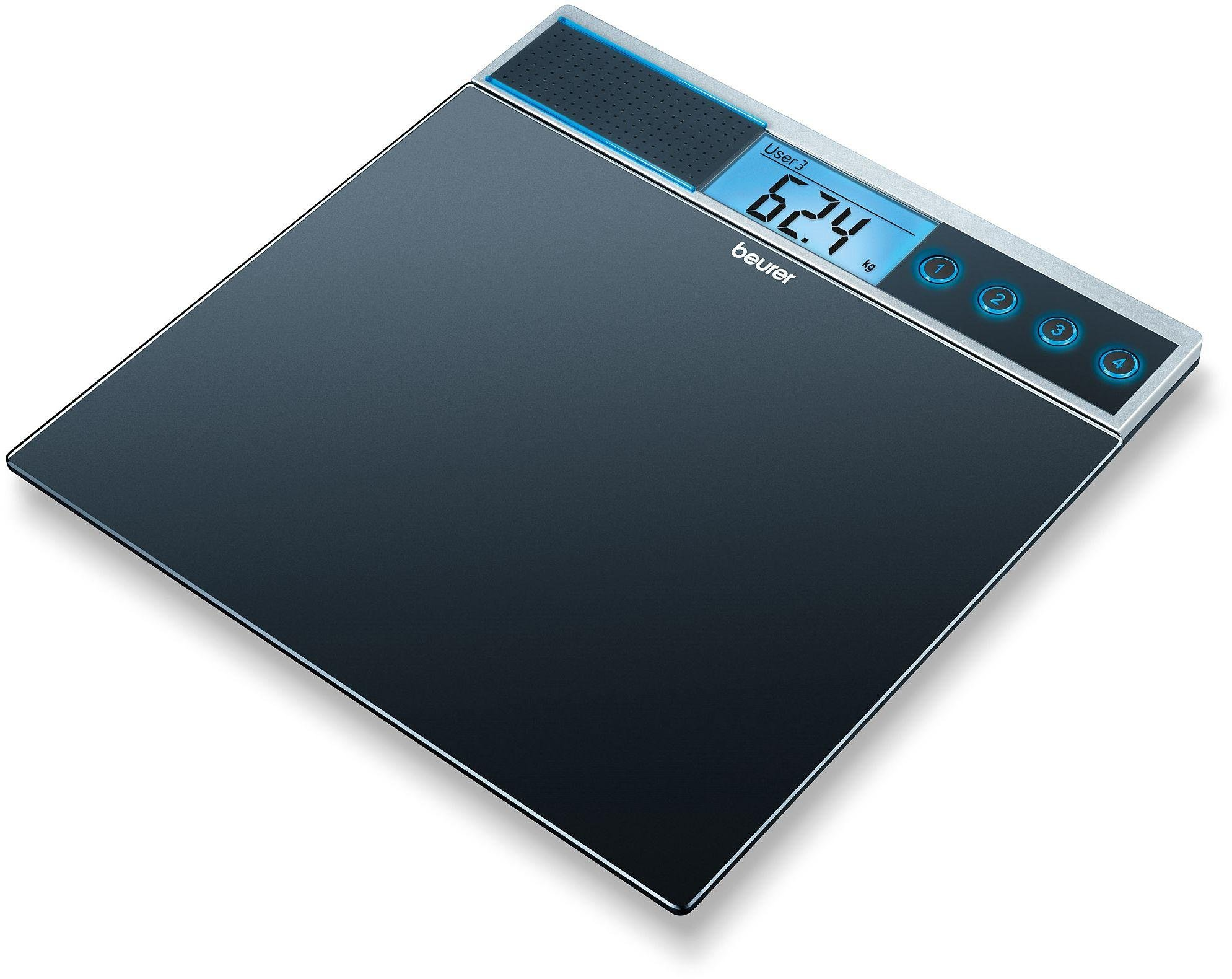 Beurer GS39 Glass Talking Scale - Black.