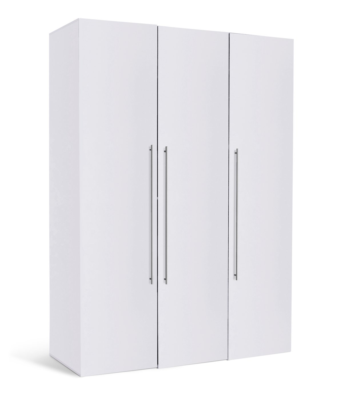 Hygena Atlas 3 Door Tall Wardrobe - White