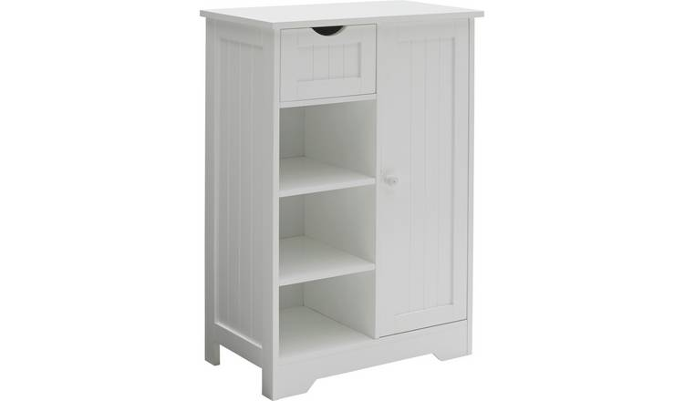 Argos Home Shaker Slimline Hall Storage Unit - White
