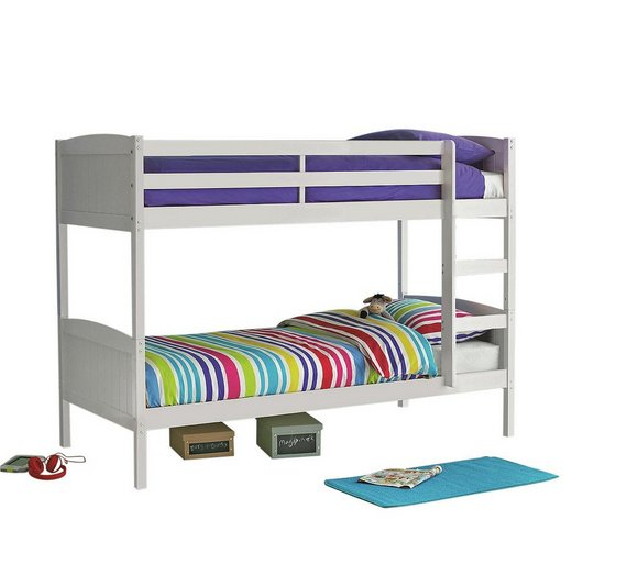 Buy home detachable single bunk bed frame white at argos for Detachable bunk beds