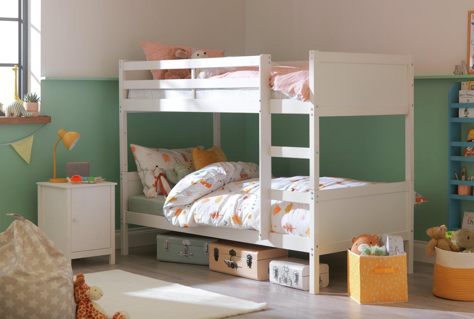 Argos Home Detachable Bunk Bed Frame - White