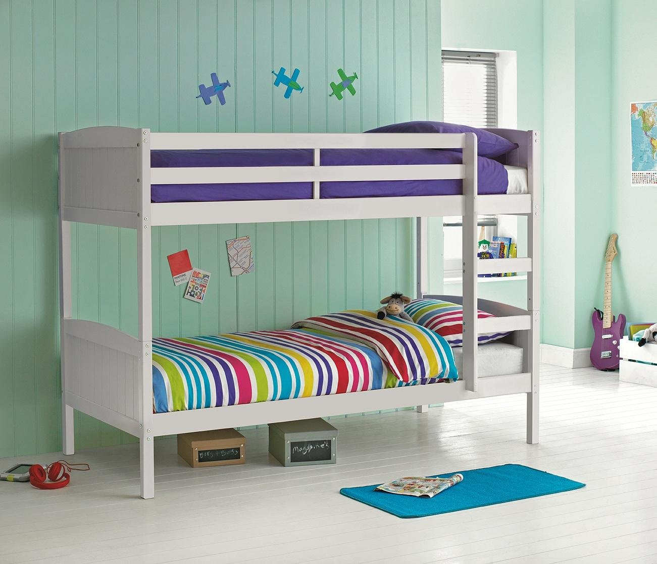 Buy HOME Detachable Single Bunk Bed Frame White at Argoscouk