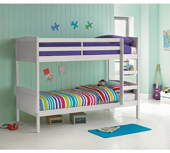 home detachable single bunk bed frame white1649855 - Bunk Bed Frame